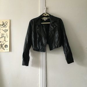 Bar III faux leather jacket size S